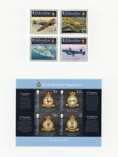 Gibraltar #1370-74,4V+S/S,Cromalin Proofs,Mounted Cartor Folder,Air Force Planes