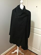 Gorgeous All Saints Black Hoxton Monument Drape Coat Jacket UK 8 RRP £278