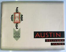 AUSTIN EXPRESS DELIVERY VANS - Brochure - c1934 - #1075 Inc: 7, 10-4, 12-4, 12-6