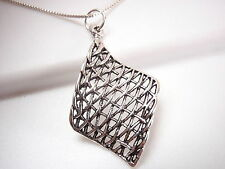 Curved Weave Necklace 925 Sterling Silver Corona Sun Jewelry