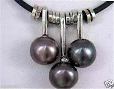 charming 7-8mm black Freshwater pearl Pendant Necklace