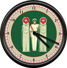 Flying A Gas Service Station Pump Sign Wall Clock