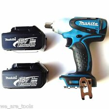 New Makita 18 Volt XWT05 Cordless 1/2 Impact Wrench, 2 BL1830 Batteries 18V LXT