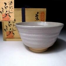 LJ6: Japanese Tea bowl, Tobe ware by Famous potter, the 2nd Hakusui Yamada