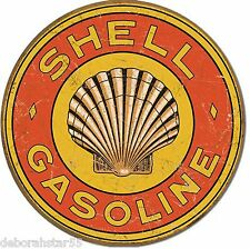 Shell Gasoline Motor Oil Retro Weathered Garage Metal Tin Sign New 30cm 1964