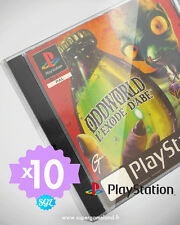 10 BOITIERS PROTECTION PROTECTIVE CASE (SUREMBALLAGE) PLAYSTATION PS1 0,4mm NEUF