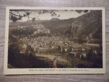 CPA - Route des Alpes - SISTERON - La ville, la citadelle et les tours