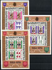 Grenada 1978 SG#946-8, 25th Anniv Of Coronation P12 MNH Sheetlets Set #D32823