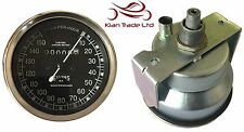 REPLICA SMITHS BLACK FACE SPEEDOMETER 10-150MPH - BSA / ENFIELD / NORTON