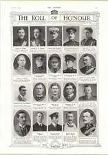 1914 Captain Ussher Ce Strahan Black Watch Cptn Miles Radcliffe Bamberger