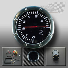 "OIL PRESSURE 2""/52mm WHITE LED SMOKED FACE GAUGE FOR DASH OR POD HOLDER"