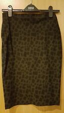 M&S black and grey stretch pencil skirt worn once size 8