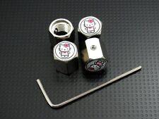 Cutie Hello Kitty Wheel Tire Valve Stem Air Dust Cover Caps Anti-Theft Locking