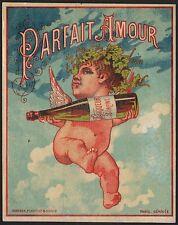 Etikett für Likör / ètiquette parfait amour / liqueur label - ca. 1900 # 1200