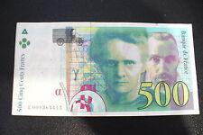 RARE BILLET 500 FRS M. CURIE 1994  Petit N°  E 009364415  - TTB ! A SAISIR !
