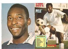 La Scheda Segreta di.. PELE' Intrepido Sport 1985 Brasile autografata con firma