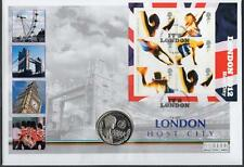 BRITISH VIRGIN ISLANDS/GB 2005 LONDON 2012 - HOST CITY $1 COIN COVER