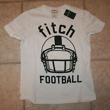 NWT Abercrombie Boys Large Glow in the Dark Football Muscle Fit T-Shirt