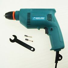 100300 Steel Wood Aluminum Electric Hand Drill 350Watt 220V 6mm Keyless Chuck