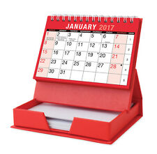2017 Month To View Spiral Stand Up Desk Top Calendar with Memo Pad