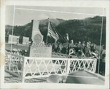 1937 William Henry Harrison Memorial in Idaho Original News Service Photo