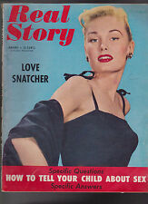 Real Story Magazine January 1954 Love Snatcher How to Tell Your Child About Sex