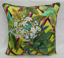 Designers Guild Fabric Cushion Cover 'Canopy' Lime - Nouveaux Mondes Fabrics