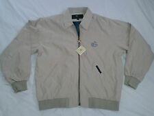 NWT Lyle & Scott Windbreaker First Tee Michigan Jacket Coat British Tan Men's M