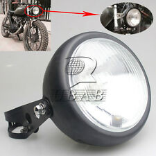 Motorcycle Black Metal Retro Front Headlight+Mount For GN125 Cafe Racer Bobber