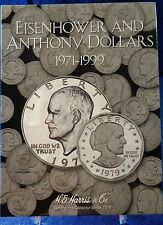 HE Harris Eisenhower and Anthony Dollars 1971-1999 Coin Folder, Album Book #2699