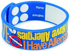 "Allermates ""I Have Allergies"" Writable Wristband Medical ID Bracelet - 41092"