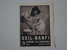 advertising Pubblicità 1942 SAPONE OXIL BANFI