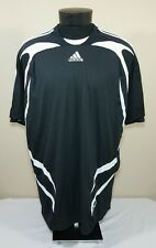 ADIDAS Soccer Jersey Formotion Men's 2XL XXL Black White Striped Climacool