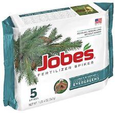 (6) JOBES 5 PACK EVERGREEN TREE FERTILIZER SPIKE 13-3-4 FEEDS ALL SEASON - 01001