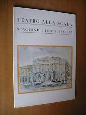 TEATRO ALLA SCALA STAGIONE LIRICA 1967/68 TURANDOT PUCCINI ZACCARIA GULLINO