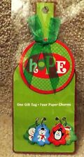4 Count Bottle Neck Hangers - Green Gift Tag with 4 charms
