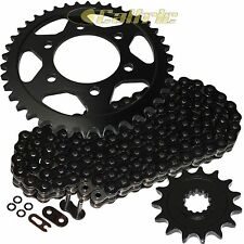 Black O-Ring Drive Chain & Black Sprocket Kit Fits KAWASAKI ZX1000 Ninja ZX-10R