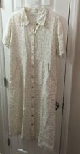 Linen THE WHITE HOUSE Dress Artsy EXCELLENT L M S One Size