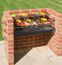 BLACK Knight Large BRICK KIT BARBECUE 90 x 39 (4 Mattone Wide) & COVER. MATTONELLE 332