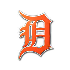 New MLB Detroit Tigers Car Truck Auto 3-D Aluminum Color Emblem Sticker Decal