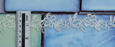 1/2 M*Corded Lace Trim-Bridal Fabric*Top Quality*Light Ivory/Off White