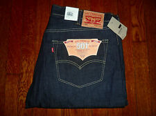 LEVI'S 501 BUTTON FLY ORIGINAL SHRINK TO FIT STRAIGHT LEG SELVEDGE JEANS (40x34)