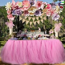 AERWO TUTU TABLE SKIRTS TULLE QUEEN SNOWFLAKE WONDERLAND CLOTH BABY GIRL PARTY