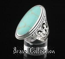 SIZE 12 Finely Made Solid 925 Sterling Silver New Turquoise Women Ring ST-200