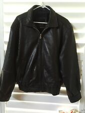 Men's Andrew Marc Additions Dark Brown Leather Coat Jacket Small
