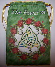 Power of Three Tarot Card Bag for most fairy angel Wiccan Charmed Witch Cards