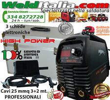 SALDATRICE INVERTER ELETTRODO 200A WELDITALIA VALIGETTA ALLUMINIO CAVI 3+2MT.