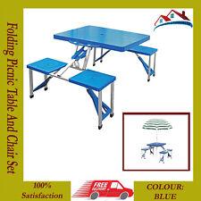 Portable pliant jardin camping extérieur bbq dining picnic table de fête lot de chaises