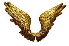 Large Golden Pair of Angel Wings Wall Decoration