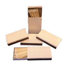 50 Plain white cover wooden match  boxes matches